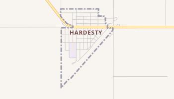 Hardesty, Oklahoma map