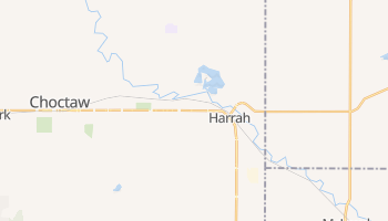 Harrah, Oklahoma map
