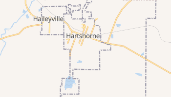 Hartshorne, Oklahoma map