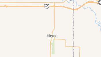 Hinton, Oklahoma map