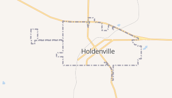 Holdenville, Oklahoma map