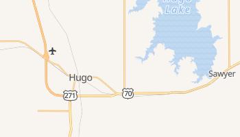 Hugo, Oklahoma map