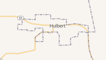 Hulbert, Oklahoma map