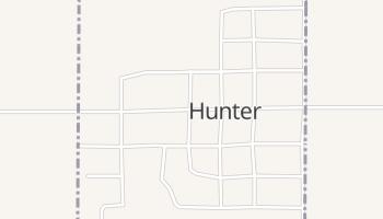 Hunter, Oklahoma map