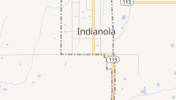 Indianola, Oklahoma map