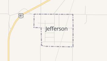 Jefferson, Oklahoma map