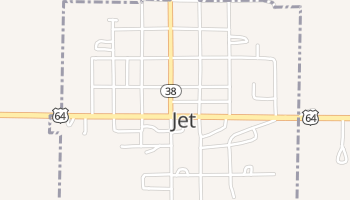 Jet, Oklahoma map