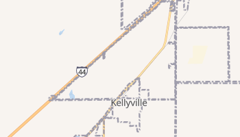 Kellyville, Oklahoma map