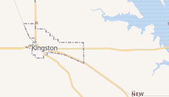 Kingston, Oklahoma map