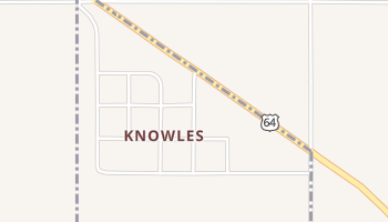 Knowles, Oklahoma map
