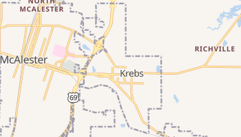 Krebs, Oklahoma map