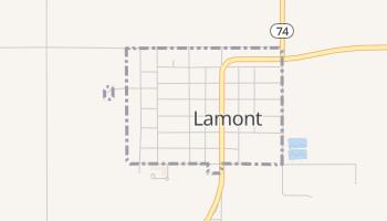 Lamont, Oklahoma map