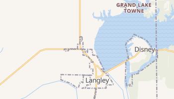Langley, Oklahoma map