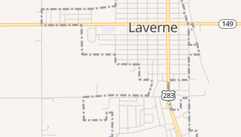 Laverne, Oklahoma map