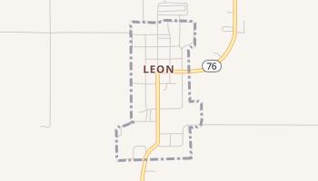 Leon, Oklahoma map