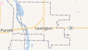 Lexington, Oklahoma map
