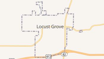 Locust Grove, Oklahoma map