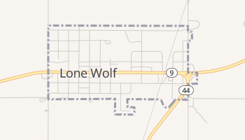 Lone Wolf, Oklahoma map