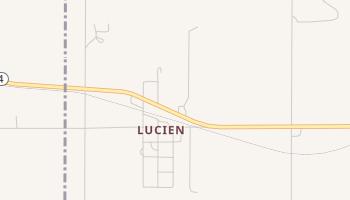 Lucien, Oklahoma map
