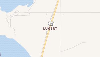 Lugert, Oklahoma map