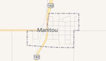 Manitou, Oklahoma map