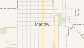 Marlow, Oklahoma map