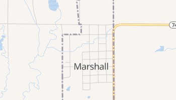 Marshall, Oklahoma map