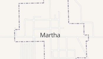 Martha, Oklahoma map