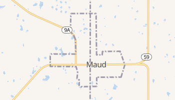 Maud, Oklahoma map