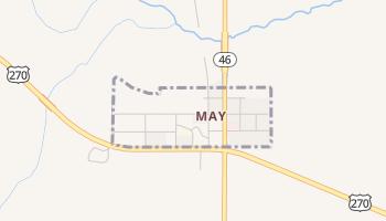 May, Oklahoma map