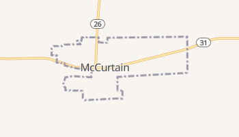 McCurtain, Oklahoma map