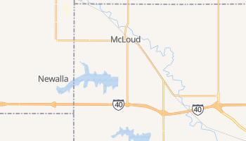 McLoud, Oklahoma map