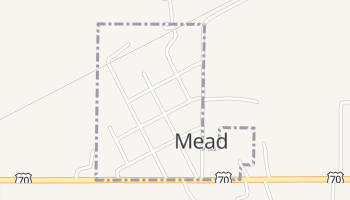Mead, Oklahoma map