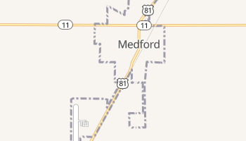 Medford, Oklahoma map