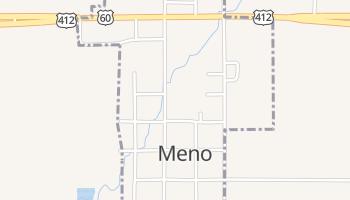 Meno, Oklahoma map