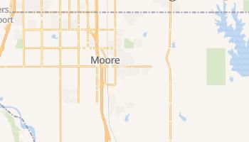 Moore, Oklahoma map
