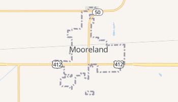Mooreland, Oklahoma map