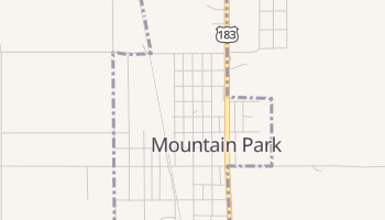 Mountain Park, Oklahoma map