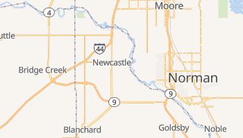 Newcastle, Oklahoma map