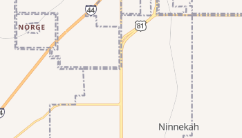 Ninnekah, Oklahoma map