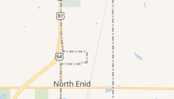 North Enid, Oklahoma map