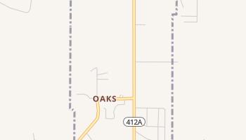 Oaks, Oklahoma map