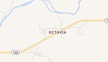 Octavia, Oklahoma map