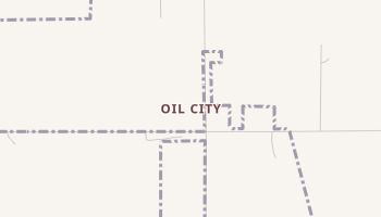 Oil City, Oklahoma map