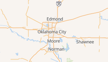 Oklahoma City, Oklahoma map