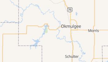 Okmulgee, Oklahoma map