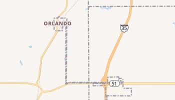 Orlando, Oklahoma map