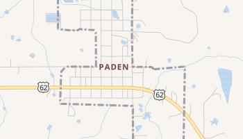 Paden, Oklahoma map