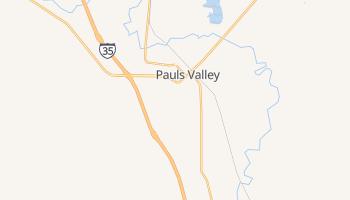 Pauls Valley, Oklahoma map
