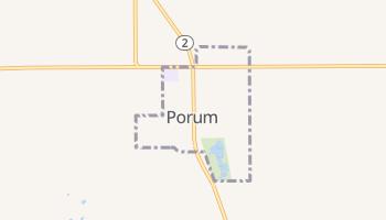 Porum, Oklahoma map